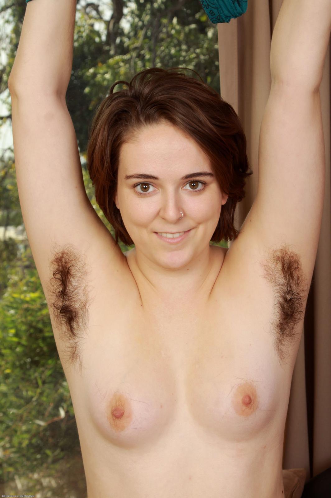 Hairy women armpits