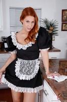 Hairy Redhead French Maid Edyn Blair